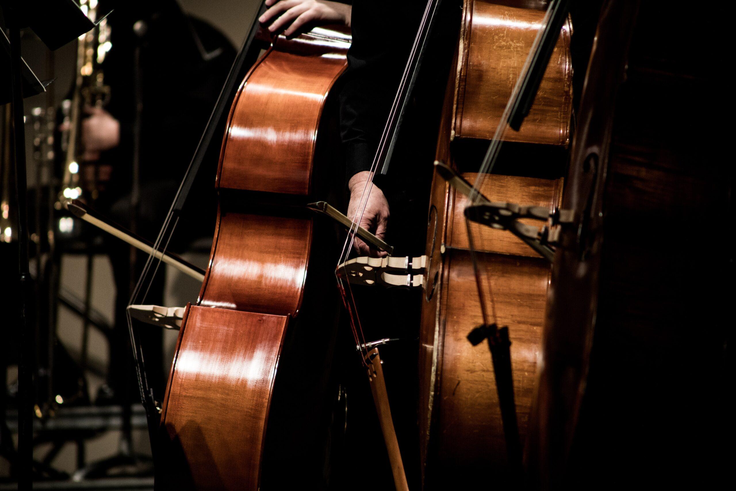 Stringed instruments in an ensemble at the Pine Street Presbyterian Church